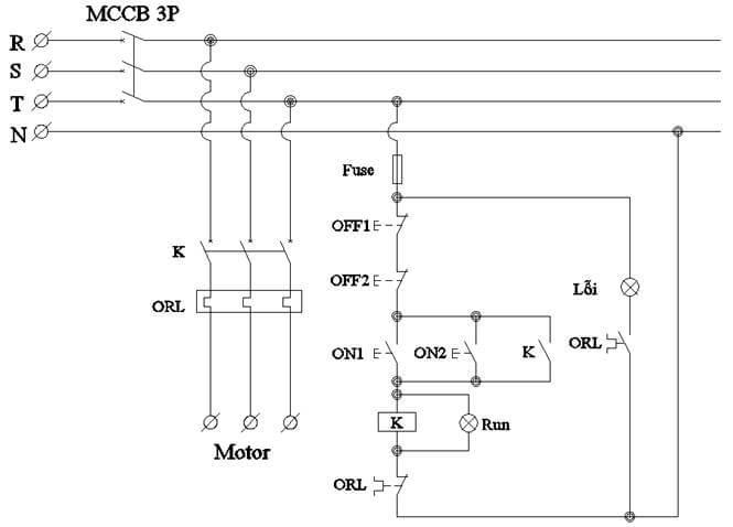 Mạch điều khiển động cơ ở 2 vị trí