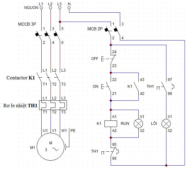 cách chọn cb và dây dẫn sơ đồ