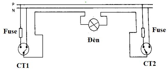 nguyên lý mạch đèn cầu thang tiết kiệm dây dẫn